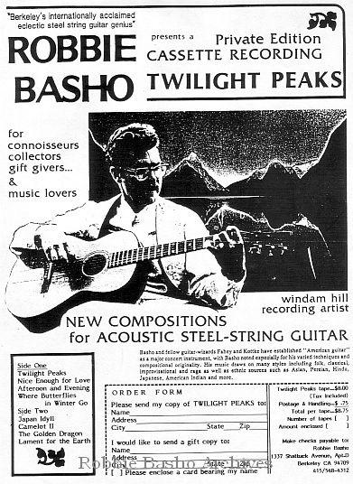 Basho's flyer Twilight Peaks